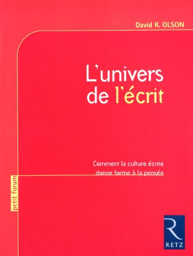 9782725629926: L'univers de l'écrit (French Edition)