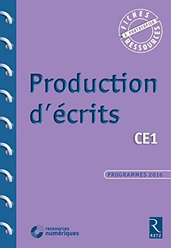 9782725635811: Production d'écrits CE1 (+ CD-Rom)