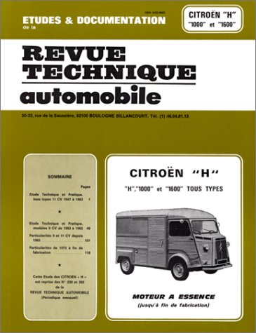 9782726823033: Revue technique Automobile 230.3 Citroen H 1000 et 1600 Essence (1950/1982)
