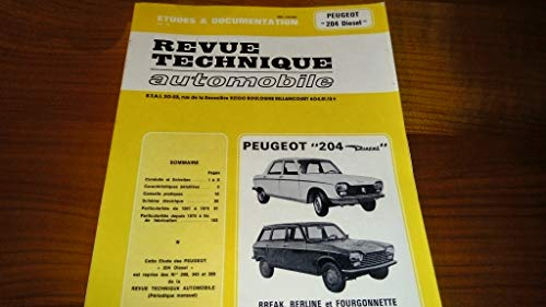 9782726829837: Revue technique de l'Automobile N� 298.3 : Peugeot 204 diesel, 1969-1976