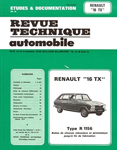 9782726833926: Etude et documentation de la revue technique automobile: Renault 16 TX