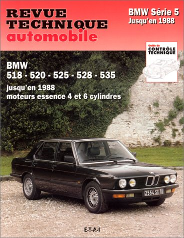 9782726835661: RTA 356.6 BMW Série 5 jusqu'en 1988