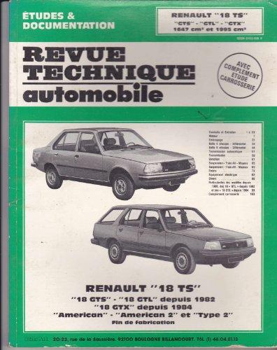 9782726838273: Rta 382.7 Renault 18 ts et gts