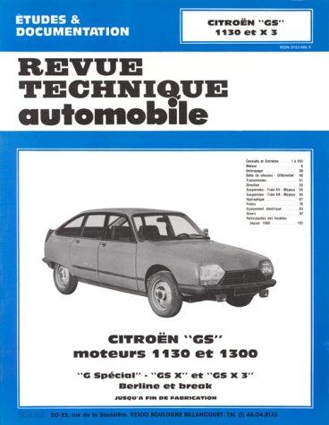 Revue Technique Automobile - CITROËN GS moteurs: Revue Technique Automobile