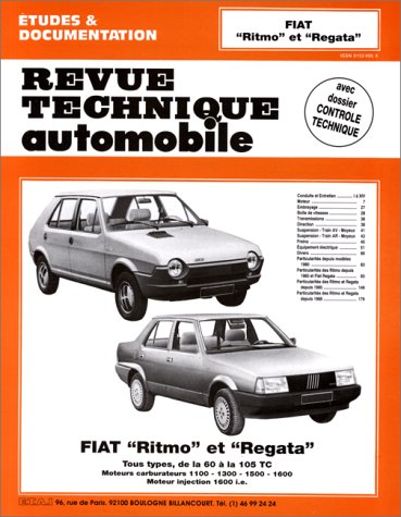 9782726839263: Rta 392.6 Fiat Ritmo et Regata (78/90) (French Edition)