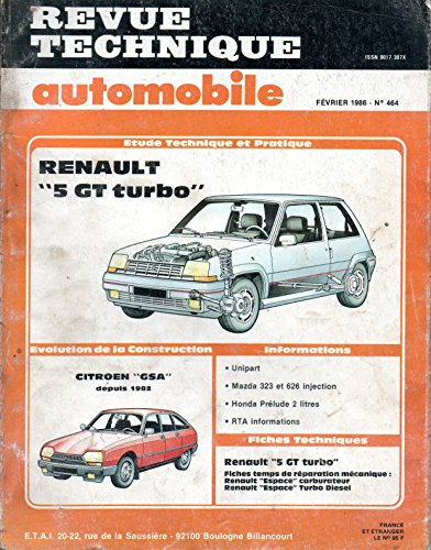 9782726846438: Rta 464.3 Renault 5 Gt Turbo