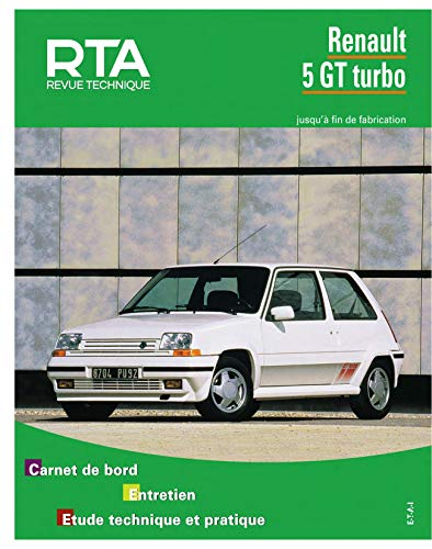 9782726846445: Rta 464.5 Renault 5 gt turbo (85-92)