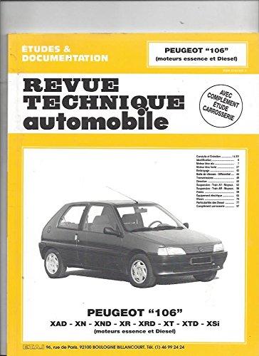 9782726853924: Revue technique de l'Automobile numéro 539.2 : Peugeot 106