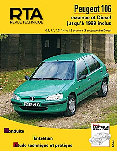 9782726853931: Rta 539.5 Peugeot 106 Essence 92/99 & Diesel 93/99 (French Edition)