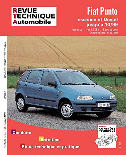 9782726856611: Rta 566.3 Fiat Punto Essence et Turbo Diesel 93-98 (French Edition)