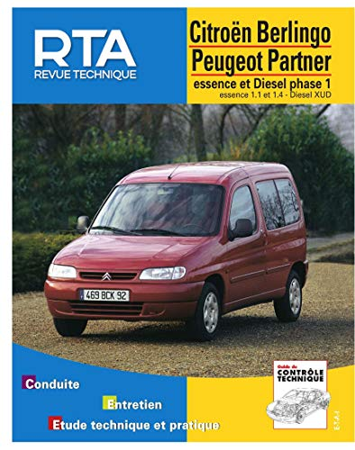 9782726860212: Citoën Berling - Peugeot Partner, moteurs à essence 1.1-1.4 et diesel