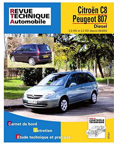 9782726866917: Rta 669.2 Peugeot 807/Citroën C8 d 2.0 & 2.2 Hdi