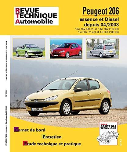 9782726869413: Rta 694.2 Peugeot 206 Ess & d 1.4hdi/1.6hdi 04/2004