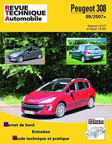 9782726873151: Rta B731 Peugeot 308+Sw 09/2007 Es 1.6+1.6hdi