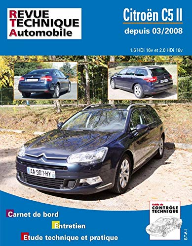 9782726873755: Rta b737 Citroën c5 II 1.6/2.0 hdi (depuis 03/2008)