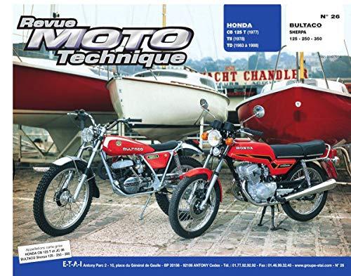 9782726890196: Rmt 26 honda cb125t-tii-td/bultaco sherpa 125-350