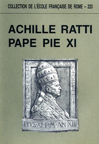 9782728302253: ACHILLE RATTI, PAPE PIE XI