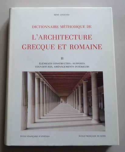 9782728302390: Dictionnaire méthodique de l'architecture grecque et romaine, tome 2