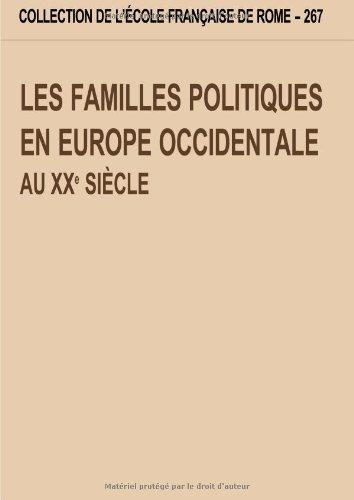Les familles politiques en Europe Occidentale au: COLLECTIF.