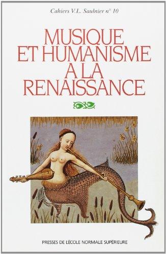 9782728801831: Musique et humanisme à la Renaissance