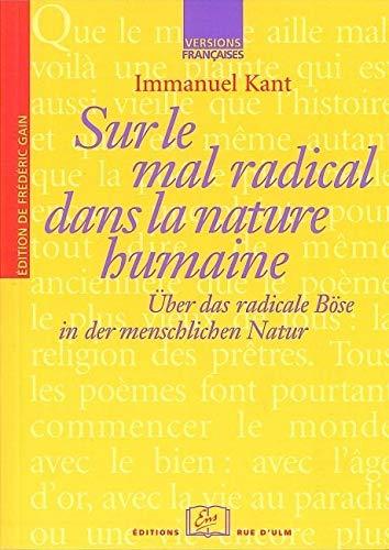 Sur le Mal Radical Ds la sur: Kant, Immanuel