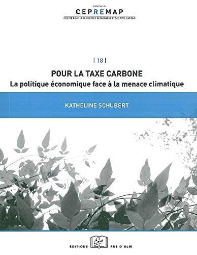 POUR LA TAXE CARBONE: SCHUBERT KATHELINE