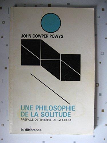 9782729101343: Une philosophie de la solitude
