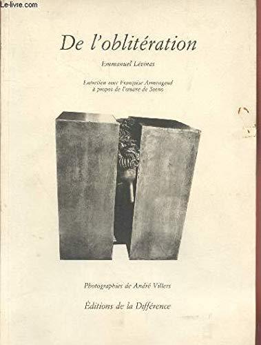 9782729105006: De l'obliteration: Entretien avec Francoise Armengaud a propos de l'oeuvre de Sosno (Le Miroir oblique) (French Edition)