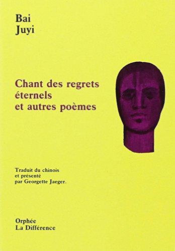 9782729108236: Chant des Regrets Eternels et Autres Poemes