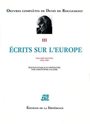9782729108793: Ecrits sur l'Europe 1962-1986, volume 2