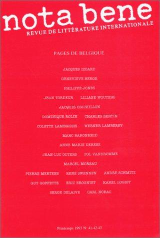 Nota Bene N 41-42-43 : 1993: Collectif