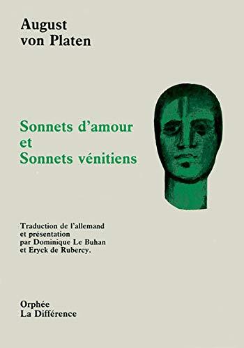 Sonnets d'amour. et Sonnets vénitiens (French Edition): VON PLATEN, August