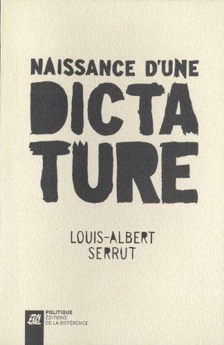 9782729119652: Naissance d'une dictature (French Edition)