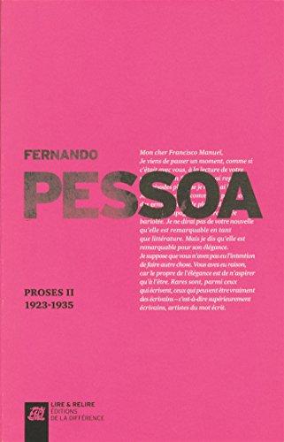 Proses II 1923-1935: Pessoa, Fernando