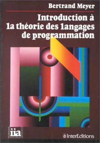 9782729604165: Introduction à la théorie des langages de programmation