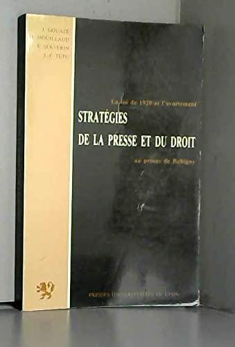 Strategies de la presse et du droit:
