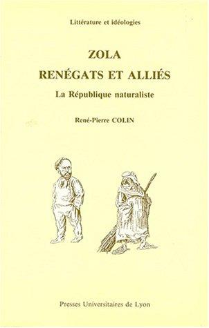9782729703264: ZOLA RENEGATS ET ALLIES. La République naturaliste