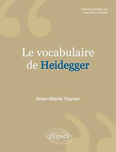 9782729802677: Le Vocabulaire de Heidegger