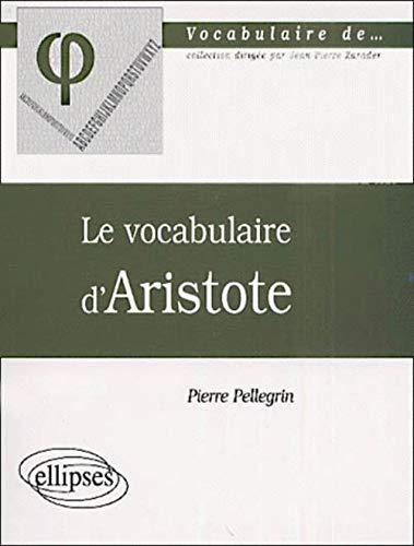 9782729804541: Le vocabulaire d'aristote