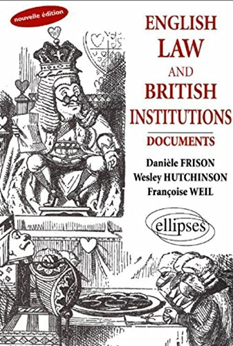 9782729807771: English Law And British Institutions : Documents