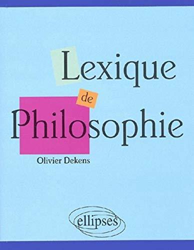 9782729808655: Lexique de philosophie