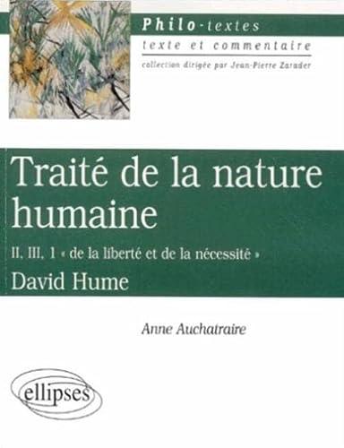 9782729808921: Traite de la nature humaine II,III 1(de la liberte et de la necessite)hume