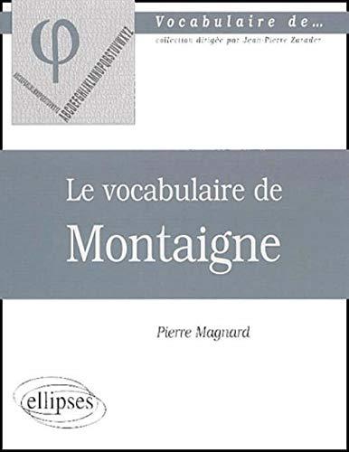 9782729811839: Le vocabulaire de Montaigne