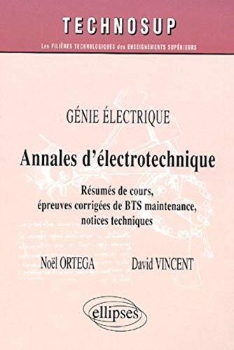 9782729814281: Annales d'�lectrotechnique. BTS maintenance