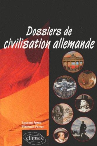 9782729814496: Dossiers de civilisation allemande