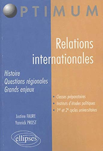 9782729817992: Relations internationales : Histoire, structure, question r�gionales