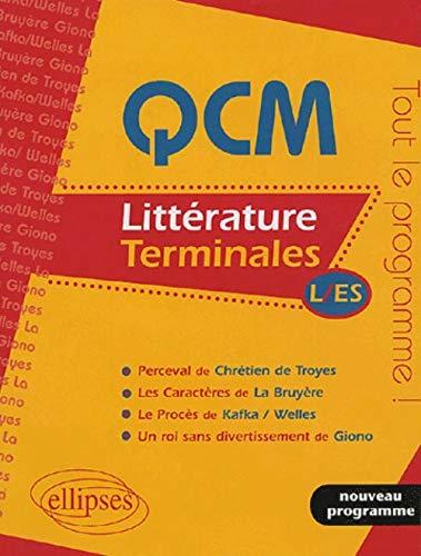 9782729820312: QCM Littérature : Terminales L/ES