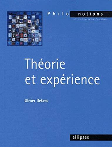 9782729821739: Théorie et expérience (French Edition)