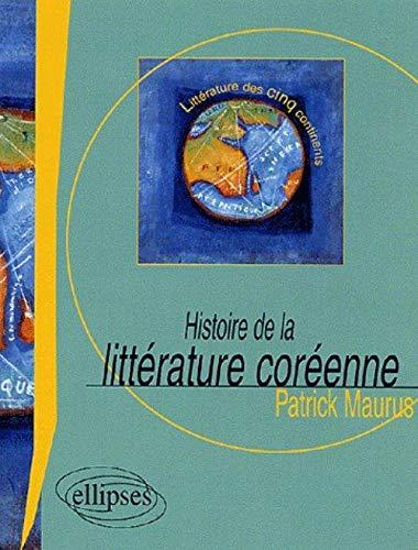9782729824228: Histoire de la litt�rature cor�enne