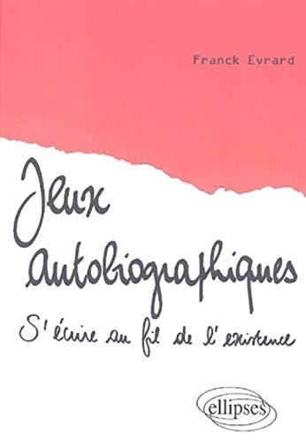 9782729827595: Jeux autobiographiques (French Edition)
